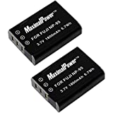 Maximal Power DB FUJ NP95 X2 Replacement Battery for Fuji NP-95, Fujifilm FinePix X100, F30, F31fd and Real 3D W Camera, 2-Piece