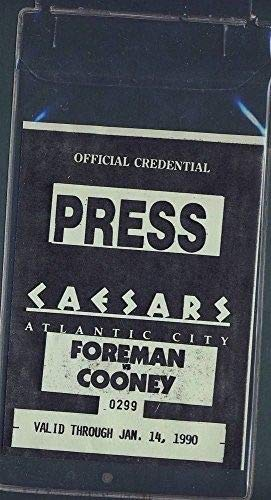 Guide George Foremans - Official Press Credential George Foreman V. Gerry Cooney 1-14-90 Caesar's AC