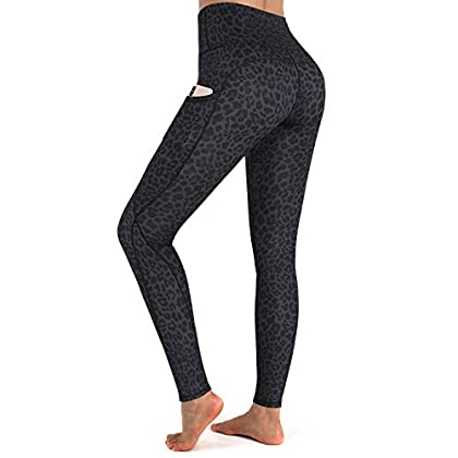 G4Free High Waist Yoga Pants with Pockets Leggings for Women Tummy Control Yoga Tights Running Workout Pants Pockets 41fo4dasoML
