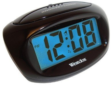 Westclox 70043 Compact Large Display LCD Alarm Clock