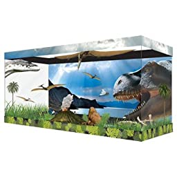 Habitat Wraps Dinosaur Land Reusable Glass Tank Background, 29.5\