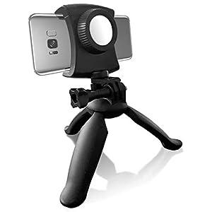 Smartphone Tripod, Lightweight Portable Adjustable Universal Phone Stand Holder Mobile Phones Small Cameras, Selfie Stick Function