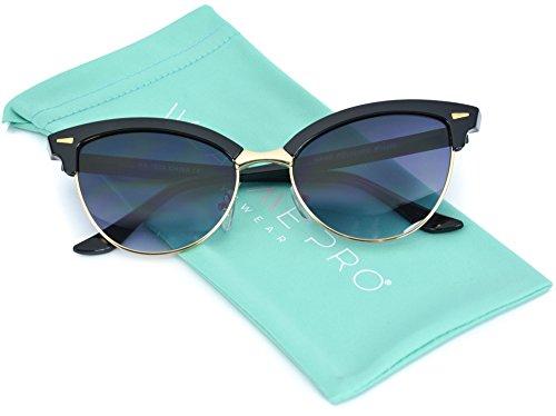 WearMe Pro - Tip Pointed Semi Rimless Cateye - Sunglasses For Sale On Women