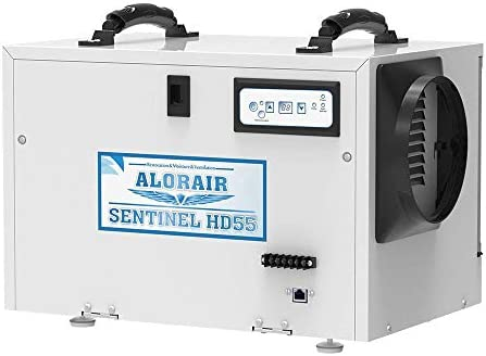 AlorAir Basement Crawl space Dehumidifiers Removal 120 PPD Saturation 55 PPD AHAM , 5 Years Warranty, HGV Defrosting, cETL, Epoxy Coating, up to 1,300 Sq. Ft, Remote Monitoring