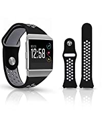 for Fitbit Ion Smart Watch Replacement Wristband-Sporty and Breathable Two-Tone Silicone Strap (Watch Table Bandwidth 22mm)