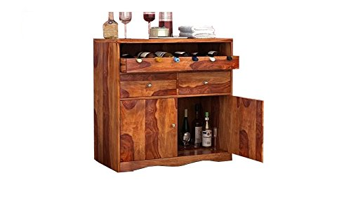 Ringabell Brewery Solid Wood Bar Cabinet (Teak Finish)