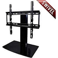 Aeon Stands and Mounts Small TV Stand with Swivel and Height Adjustment for 23 to 50-Inch TVs