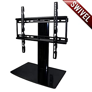 aeon stands and mounts small tv stand with swivel and height adjustment for 23 to 50. Black Bedroom Furniture Sets. Home Design Ideas