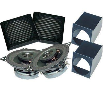 Sistema audio per auto composto da: 2 supporti altoparlanti con griglie + 2 altoparlanti Colore NERO. Master Line