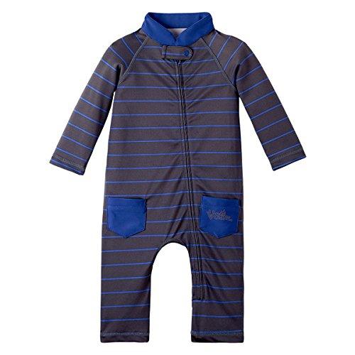 UV Skinz UPF 50+ Baby Boys Sun & Swim Suit - Charcoal Fun Stripe -18/24 month