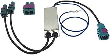 Adaptador de antena doble 2 x Fakra Diversity fantasma Antena Adaptador