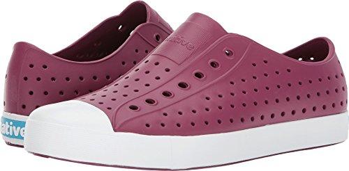 - native Men's Jefferson Slip Fashion Sneaker, Root Red/Shell White, 12 M US
