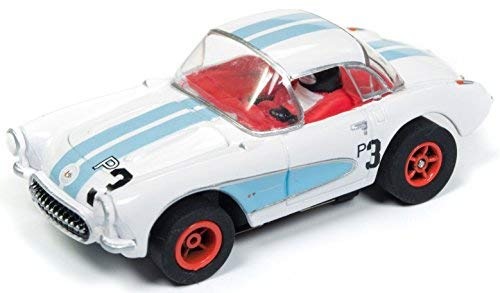 Auto Worldホワイト1957 Chevrolet Corvette Hardtop Racer Cars NコーヒーHo Scale Slot Car B07CPP6R7L