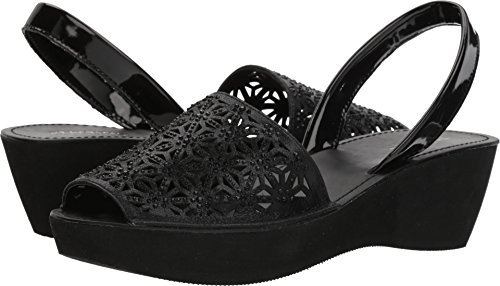 Kenneth Cole REACTION Women's Shine Far Platform Slingback Wedge Sandal, Black, 8 M US
