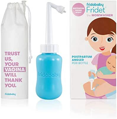 MomWasher Peri Bottle for PostPartum Care by Fridababy - Perineal Recovery After Birth