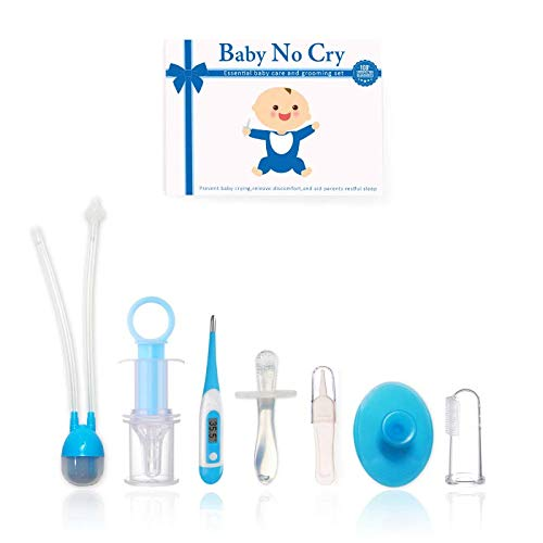 Baby Care Gift Set- Nasal Aspirator, Teething Toys, Baby Thermometer & More Essential Tools from Baby No Cry
