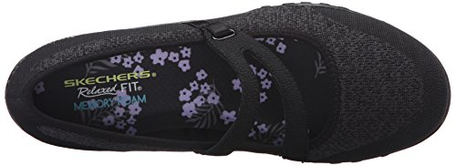Lucky Breathe Skechers Easy Mujer Lady Merceditas para Negro Black OSwUdqxwEp
