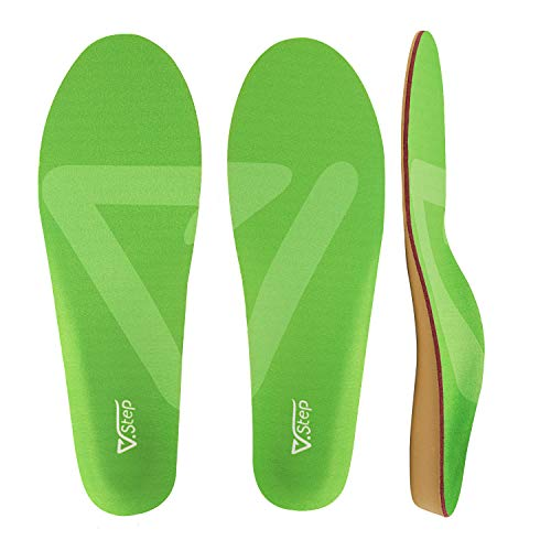 Orthotic Shoe Insoles with Arch Support, Shock-Absorbing Cushioning Inserts for Plantar Fasciitis, Flat Feet, Foot Pain Relief, for Women and Men, S