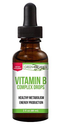 B-complex Drops - Green Organics Vitamin B Complex Liquid Drops To Support Energy, Vitality, and Immunity Health (2 Fl Oz)