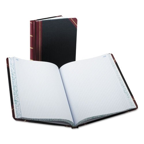 Boorum & Pease Columnar Book, Record Rule, Black Cover, 300 Pages, 10 3/8 x 8 1/8