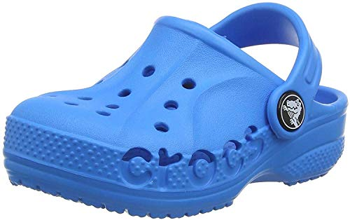 Crocs Kids' Baya Clog |Comfortable Slip On Water Shoe for Toddlers, Boys, Girls, Ocean, 13 M US Little Kid