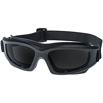 "Tinted Motorcycle Riding Goggles: Heavy-Duty Riding Goggles ""No Foam"" Design w/ Hard Case, Microfiber Cleaning Cloth & Pouch Included (Smoke)"
