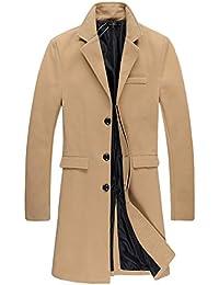 Mens Trench Coat Autumn Winter Long Jacket Overcoat