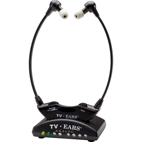 TV Ears Original Wireless Headsets System, TV Hearing Aid Devices works best with Analog TV