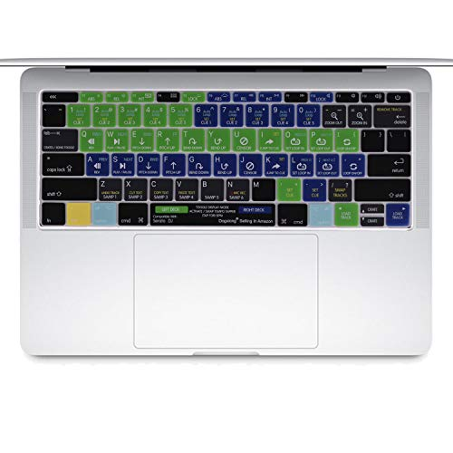 Dogxiong Serato DJ Serato Scratch Live DJ Browser Toggle Functional Shortcut Silicone Keyboard Cover for (No-Touch Bar) MacBook Pro 13 Inch 2016 Later Release [A1708] ; New MacBook 12 Inch [A1534] ()