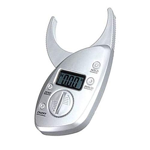 (Beauty AGL Body Fat Caliper, Electronic Body Fat Caliper Analyzer Measurement Tool LCD Display Tester Monitor Measure mm inch (Battery Included))