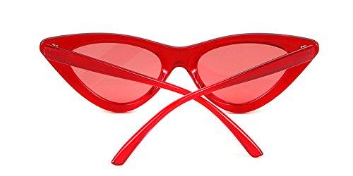 Marco protección gato gafas Rojo ojo mujeres sol 1 de Rojo sol de Cobain de de para de Kurt retro vintage Lente Transparente ADEWU Gafas Gafas estilo niñas xpwqY8g