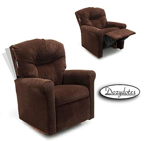 Dozydotes Contemporary Chocolate Micro Suede Rocker Recliner by Dozydotes
