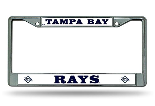Rico Industries Tampa Bay Rays New Design Chrome Frame Metal License Plate Tag Cover Baseball
