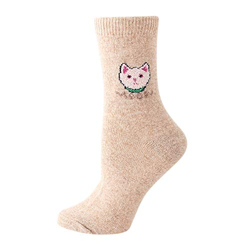 Women's Wool Socks, VECDUO Solid Color Ladies Coloured for sale  Delivered anywhere in USA