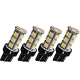HOUTBY 4 X White Backup Reverse T20 7440 5050 18-SMD LED Light bulbs 7441 992