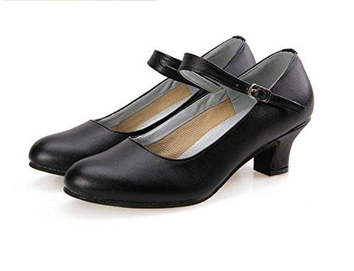 Latin Dance Dance Square ShoesLatin Prom Dance Shoes Ballroom Shoes Black Ruanlei 5fwxq7OzTq