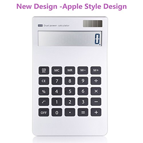 Calculator, 10 Digit Apple Style Design Calculator Dual