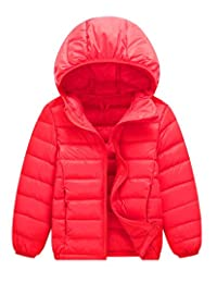Happy Cherry Down Coat Ultra Light Hooded Coats Winter Waterproof Down Jacket