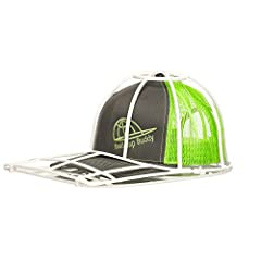 The Original Ballcap Buddy Cap Washer, safely cleans dries, shapes stores and protects all your hats caps ballcaps and visors. Simple to use, just open the frame in the back, place your ballcap inside, close the frame and place in the top rac...