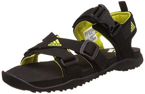 adidas Women's Gladi W Black and Shosli Leather Fashion Sandals