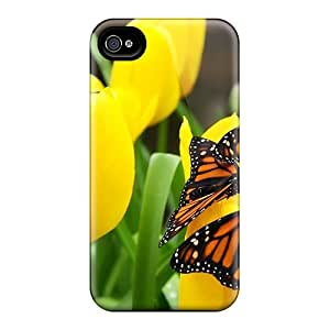 LJF phone case Excellent Iphone 4/4s Case Tpu Cover Back Skin Protector Butterflies
