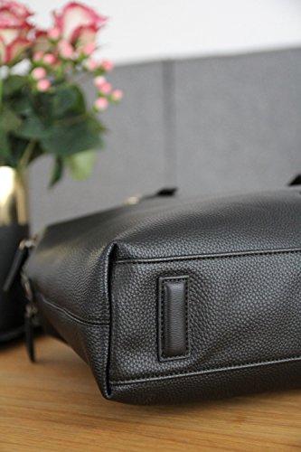 business lady black Passione noble bag in briefcase leatherette bugatti qAwFxtEx