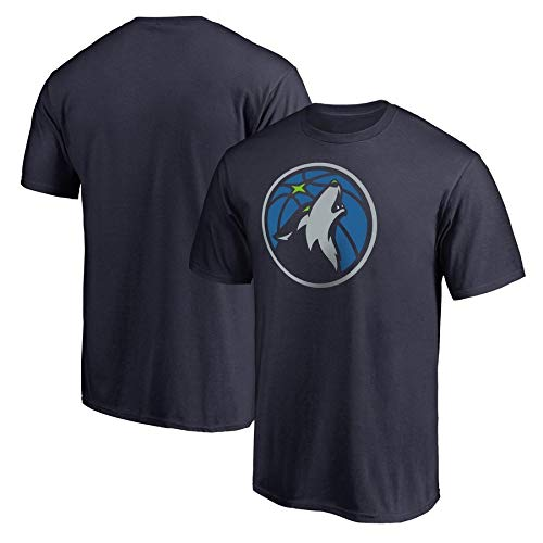 LXY-Sports Camiseta NBA Hombre Minnesota Timberwolves Jersey Loose Casual Round Neck T-Shirt S – 3XL Negro