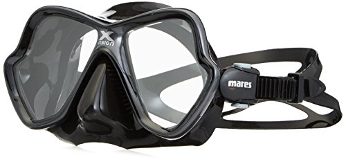 - Mares X-Vision Ultra Liquid Skin Dive Mask, Black/Gold Mirrored Lens