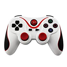 Moonguiding PS 3 Wireless Controller, White-Red