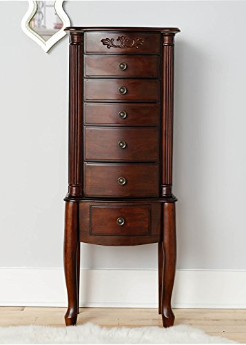 Hives and Honey 9006-868 Morgan Armoire Jewelry Cabinet, Dark Walnut ()