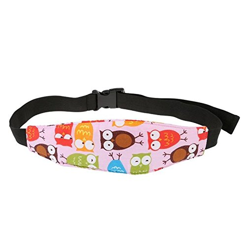 Toddler Car Seat Neck Relief and Head Support, Easy Installation On Most Convertible Seats, Offers Protection and Safety for Kids (Pink Owl Pattern)