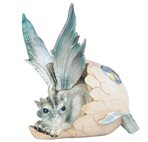 """StealStreet SS-G-71470 Baby Dragon Resting in Eggshell with Gem Figurine, 5"""" from StealStreet"""