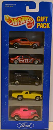 Hot Wheels Customized 5 Gift Pack Set Ford Series 1:64 Scale Collectible Die Cast Model Car