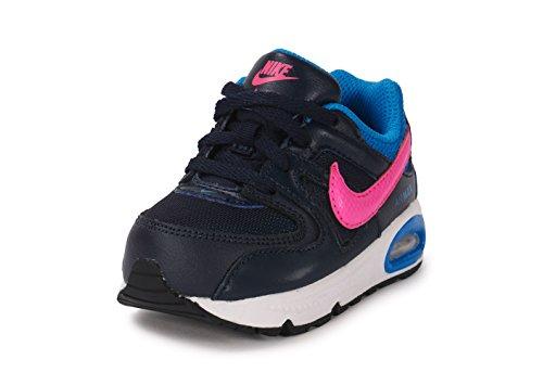 Nike Air Max Command (TD), Zapatos de Primeros Pasos para Bebés Negro / Rosa / Azul (Obsidian / Pink Pow-Photo Blue)